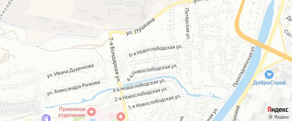 Новослободская 5-я улица на карте Астрахани с номерами домов
