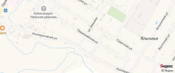 Первомайская улица на карте села Яльчиков с номерами домов