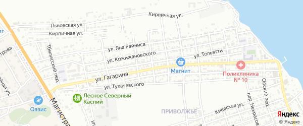Переулок Щербакова на карте Астрахани с номерами домов