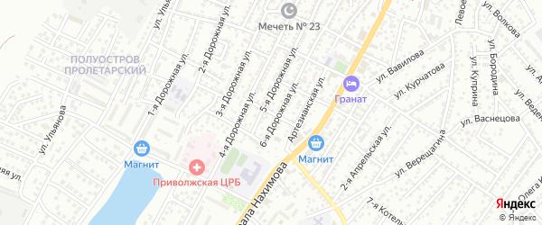 Улица Брюллова на карте Астрахани с номерами домов