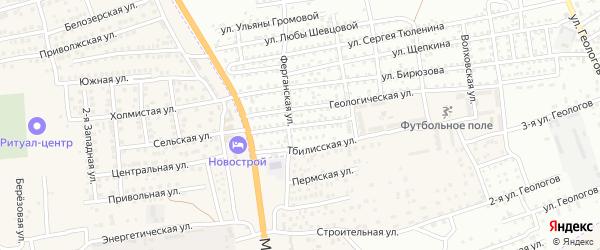 Улица Чичерина на карте села Солянки с номерами домов