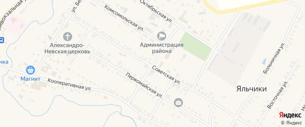Улица Иванова на карте села Яльчиков с номерами домов