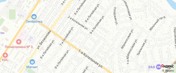 Вязовский 7-й переулок на карте Астрахани с номерами домов