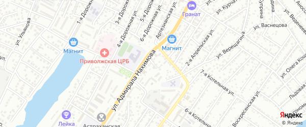 Тепличный проезд на карте Астрахани с номерами домов
