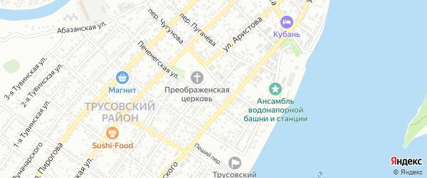 Черниковская улица на карте Астрахани с номерами домов