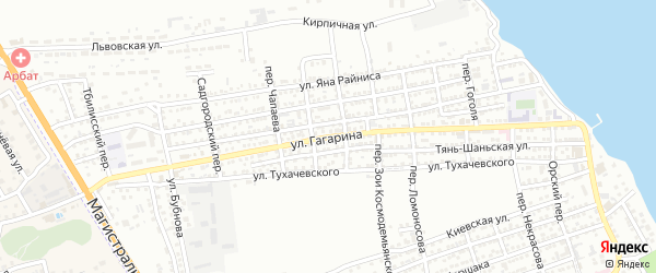 Улица Гагарина на карте Астрахани с номерами домов