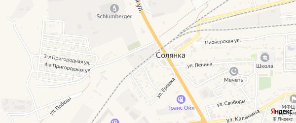 Каспийская улица на карте села Солянки с номерами домов