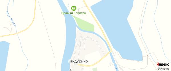 Карта села Гандурино в Астраханской области с улицами и номерами домов