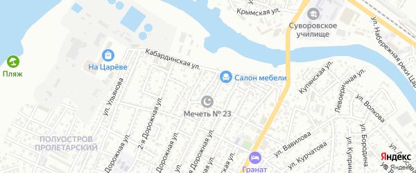 Улица Смычка на карте Астрахани с номерами домов