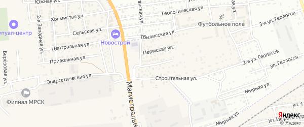 Учительская улица на карте села Солянки с номерами домов