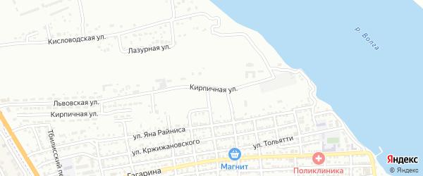 Кирпичная улица на карте Астрахани с номерами домов