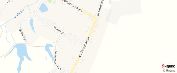 Улица Николаева на карте села Лаща-Таяба с номерами домов