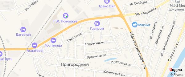 Переулок Потехина на карте Пригородного поселка с номерами домов