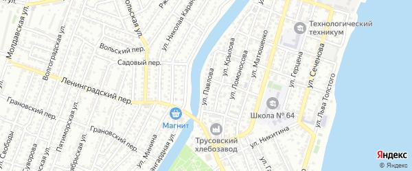 Улица Павлова на карте Астрахани с номерами домов