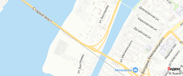 Улица Бехтерева на карте Астрахани с номерами домов