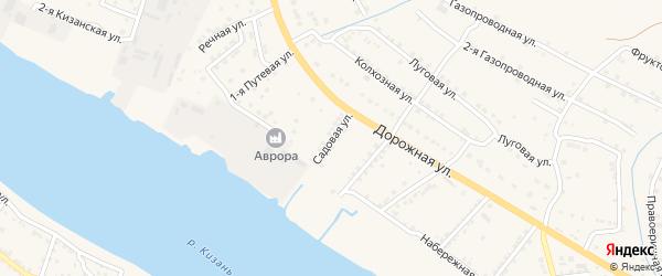Садовая улица на карте села Карагали с номерами домов
