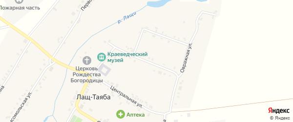 Церковная улица на карте села Лаща-Таяба с номерами домов