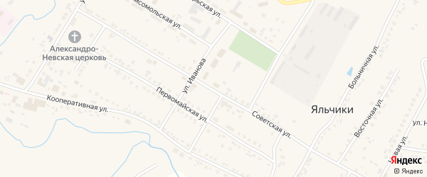Советская улица на карте села Яльчиков с номерами домов