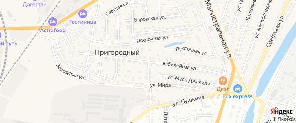 Юбилейная улица на карте Пригородного поселка с номерами домов