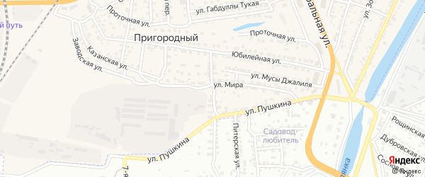 Улица Трусова на карте Пригородного поселка с номерами домов