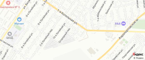 Урожайный переулок на карте Астрахани с номерами домов