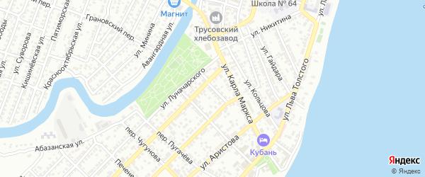 Аэродромный переулок на карте Астрахани с номерами домов