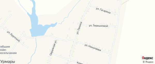 Улица Ленина на карте деревни Старые Урмары с номерами домов