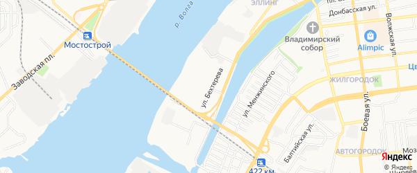 ГСК N10 на карте улицы Бехтерева с номерами домов