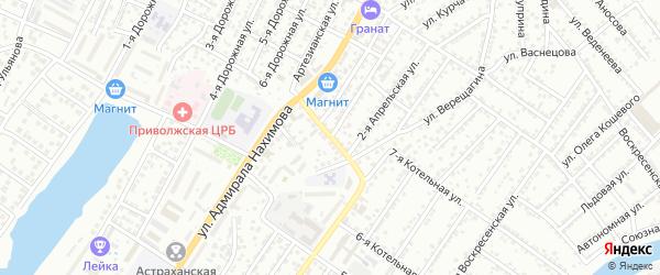 Каширская улица на карте Астрахани с номерами домов