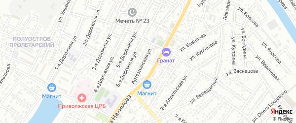 Улица Шишкова на карте Астрахани с номерами домов