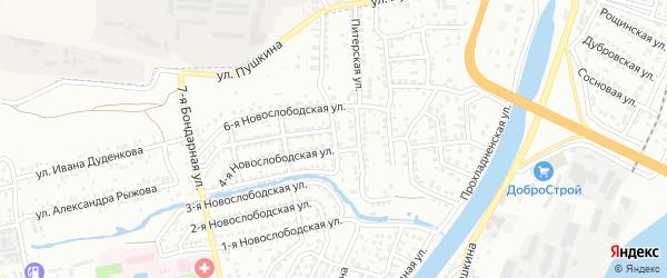 Бондарная 3-я улица на карте Астрахани с номерами домов