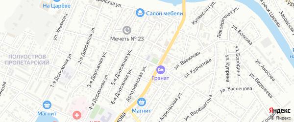 Артезианская улица на карте Астрахани с номерами домов