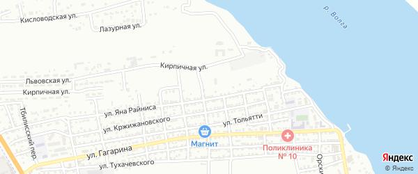 Зои Космодемьянской переулок на карте Астрахани с номерами домов