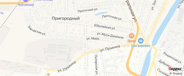 Улица Мира на карте села Солянки с номерами домов