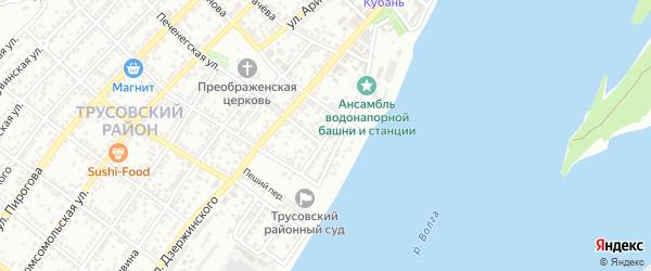 Горская улица на карте Астрахани с номерами домов
