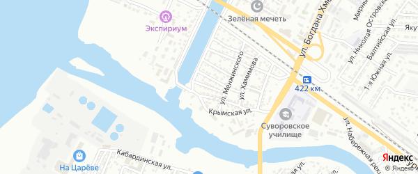 Хасанская улица на карте Астрахани с номерами домов