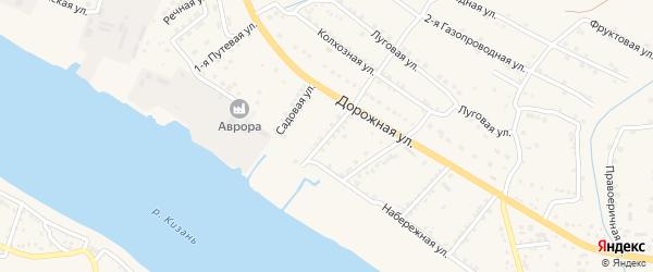 Заречная улица на карте села Яксатово с номерами домов