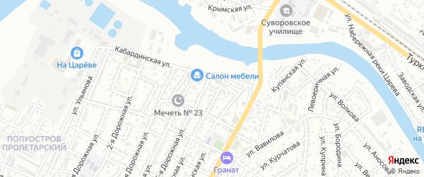 Даниловский переулок на карте Астрахани с номерами домов