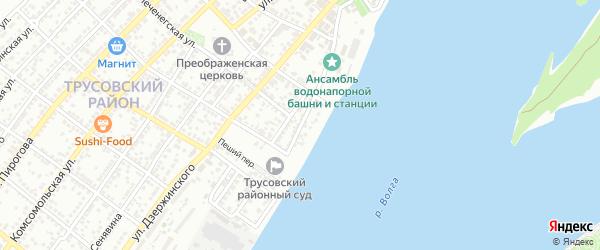Оленегорская улица на карте Астрахани с номерами домов