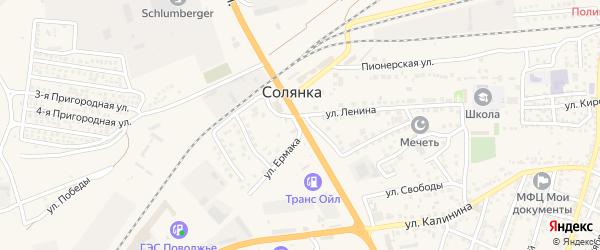 Магистральная улица на карте Пригородного поселка с номерами домов