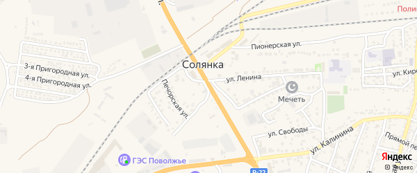 Магистральная улица на карте села Солянки с номерами домов