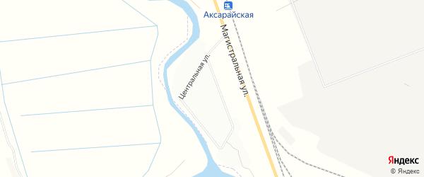Карта Аксарайского поселка в Астраханской области с улицами и номерами домов