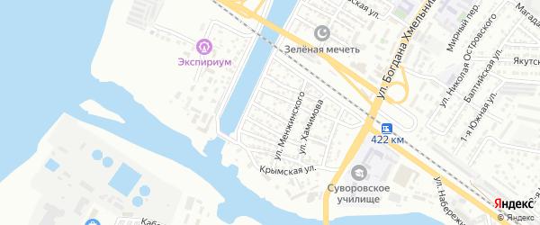 Улица Подъяпольского на карте Астрахани с номерами домов