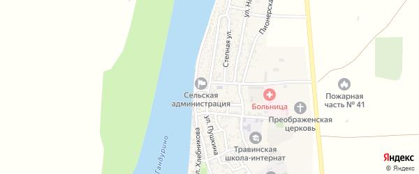 Улица Пушкина на карте села Образцово-Травино с номерами домов