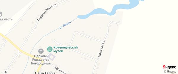 Октябрьская улица на карте села Лаща-Таяба с номерами домов