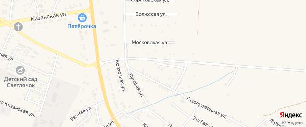 Тихий переулок на карте села Яксатово с номерами домов