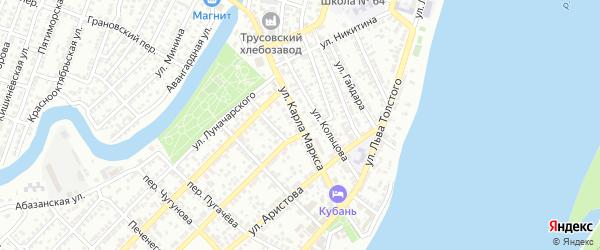 Улица Карла Маркса на карте Астрахани с номерами домов