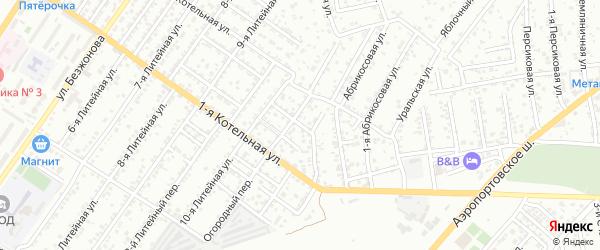 Уральский переулок на карте Астрахани с номерами домов