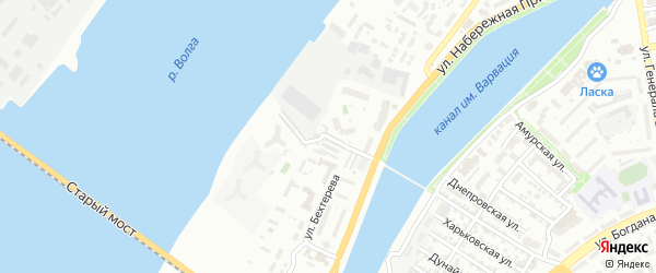 Виноградный 2-й переулок на карте Астрахани с номерами домов