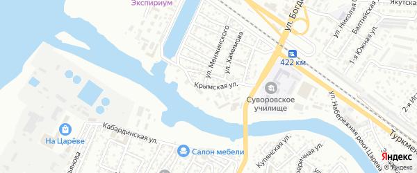 Крымская улица на карте Астрахани с номерами домов